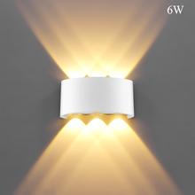Indoor 2W 4W 6W 8W LED lampy ścienne AC100V 220V aluminium udekorować ścianę sconce sypialnia LED ściana LightIndoor i dekoracji na zewnątrz tanie tanio Szkło bezbarwne Nowoczesne Holiday Ścianie W strona główna W górę w dół LemonBest-Najlepsza 5 * 3 * 8 8 cm 1-3metry kwadratowe