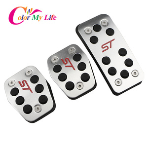 Image 3 - Color My Life Car Gas Fuel Pedal Set Brake Pedals Rest Foot Pedal Covers for Ford Focus 2 3 4 MK2 MK3 MK4 RS ST Kuga Escape