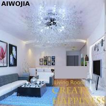 купить Modern White LED Ceiling Lights For Living Room luminarias para sala plafon led Crystal Ceiling Lamp Fixtures For Bedroom по цене 8932.74 рублей
