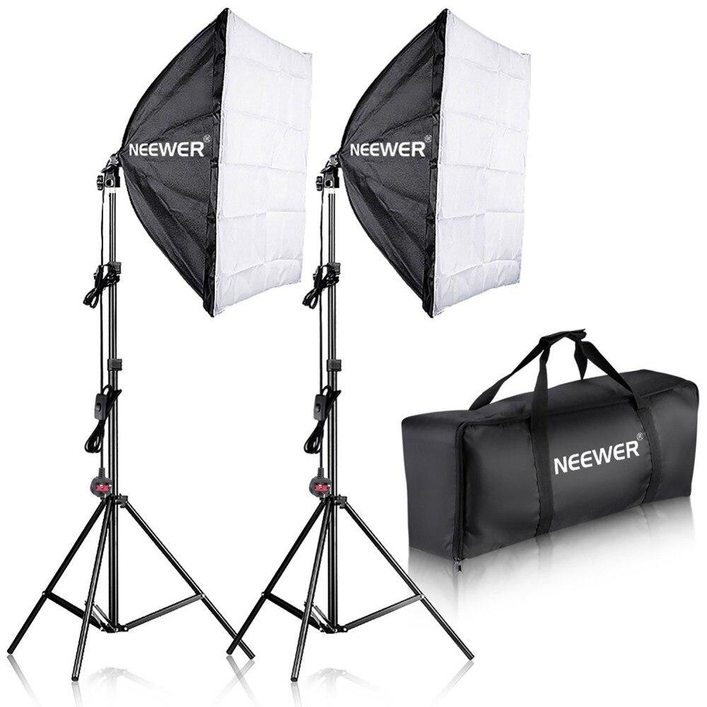Neewer 700 Вт Фотография Softbox с E27 гнездо свет освещения комплект для фотостудии портреты, фотографии и видео съемки
