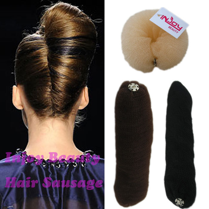 AR15 Free Shipping Wholesale Hair Styling Tool Accessories Hair Roller Bun Ring Donut Shaper Makerhair bun ...