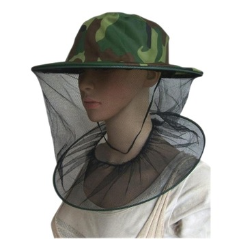 Camouflage Beekeeping Fishing Hat Insects Mosquito Net Prevention Caps Mesh Fishing Cap Mask Outdoor Sunshade Neck Head Cover