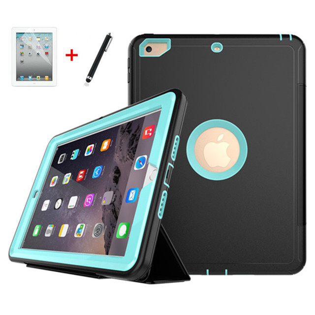 Coque pour iPad 9.7 2018, coque de sommeil automatique Ultra mince, pour iPad 9.7 pouces, 2017 et 2018, version A1823, A1893, A1954, avec film et stylo
