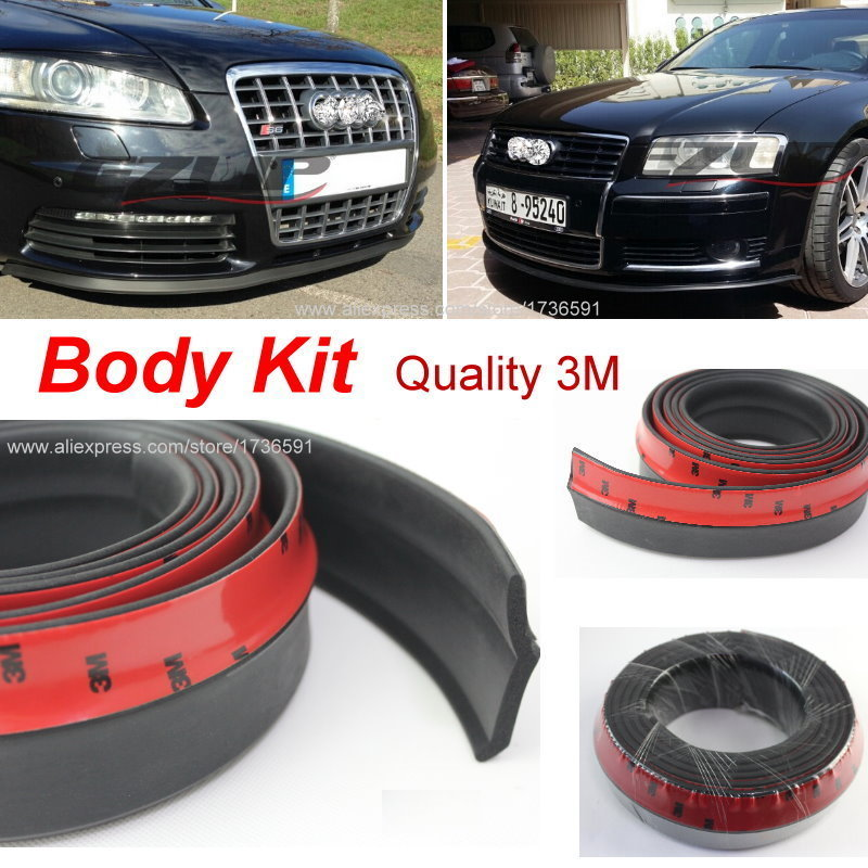 Make car lower Body Kit / For Audi A5 S5 RS5 2007~2015 / Car Bumper Lip / Front / Rear Skirt Spoiler / Deflector Rubber Strip