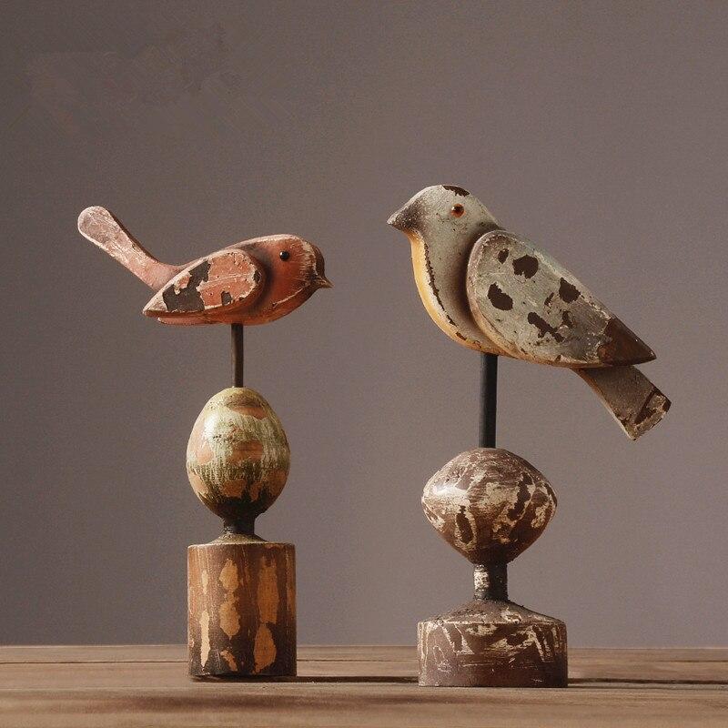 North European birds set pieces of American vintage home decoration living room TV cabinet model of handicraft decoration hearth