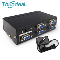ThundeaL VGA Splitter Box Monitor 350MHz 1 In 2 4 8 Out Amplifier Extender Projector XGA