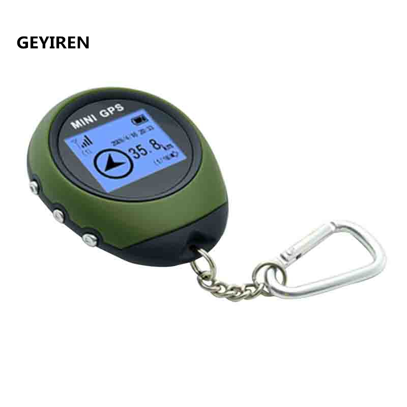 GEYIREN Handheld Mini GPS Tracker Purse Tracker Navigator USB Charging Outdoor Sports Climbing Long Trip Tourist GPS