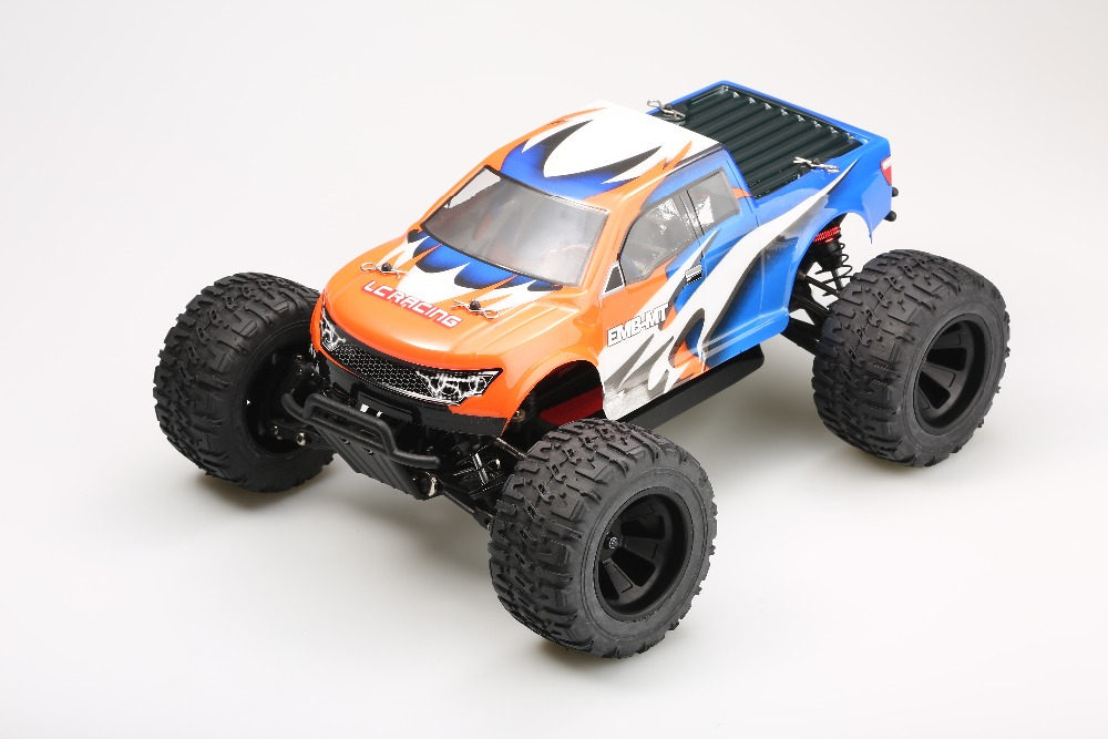 цены  LC Racing EMB-MTL 1/14 scale 4WD electric brush motor RC Monster truck RTR version 2.4G radio