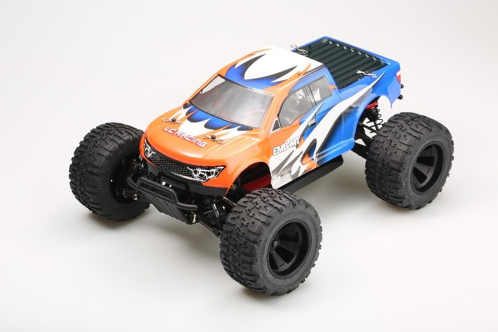 LC Racing EMB-MTL 1/14 skala 4WD elektrisk borstmotor RC Monster truck RTR version 2.4G radio