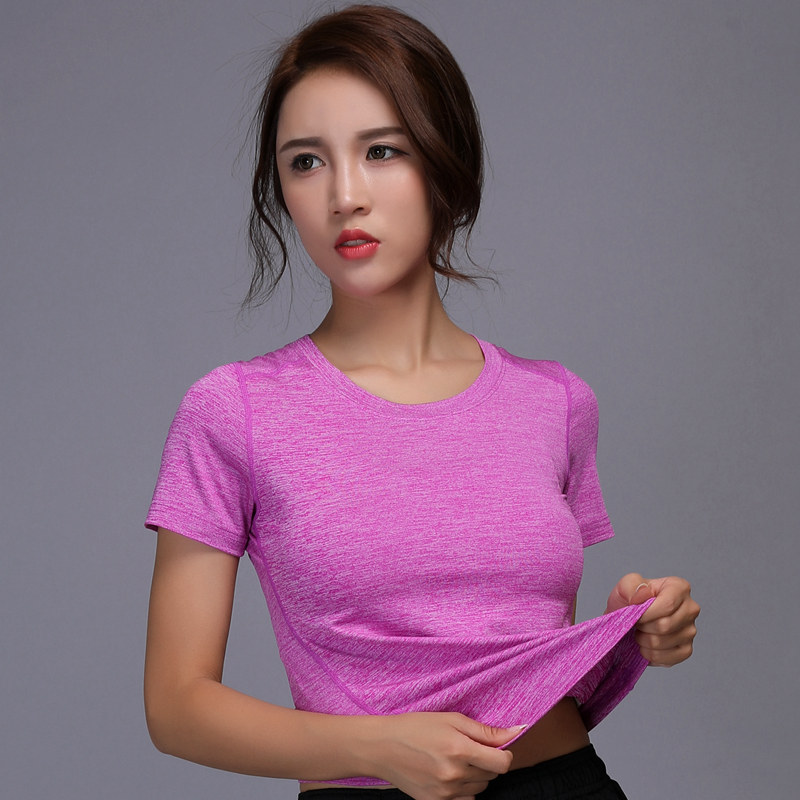 Women Yoga Top Sport T Shirt Quick Dry Exercises Top Fitness Jersey Female T-shirt Clothing Sports Gym Running Jogging Shirts