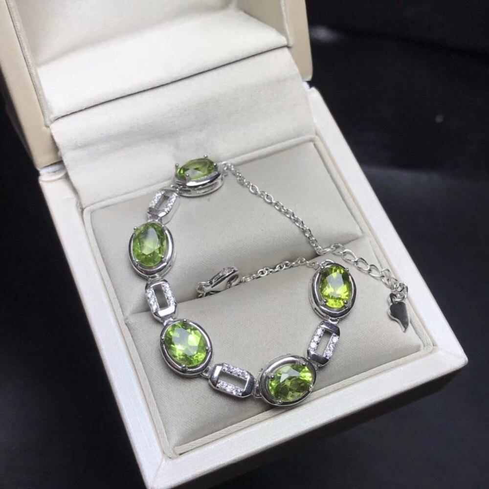Natural Peridot Bracelet, Beautiful Mood Stone, 925 Silver Exquisite Craft, Professional Natural Gem Shop