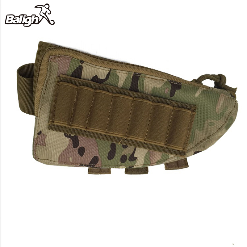 Tactical Buttstock Ammo Portable Pouch Rifle Stock Shell Cartridge Hunting Holder Cheek Leather Pad