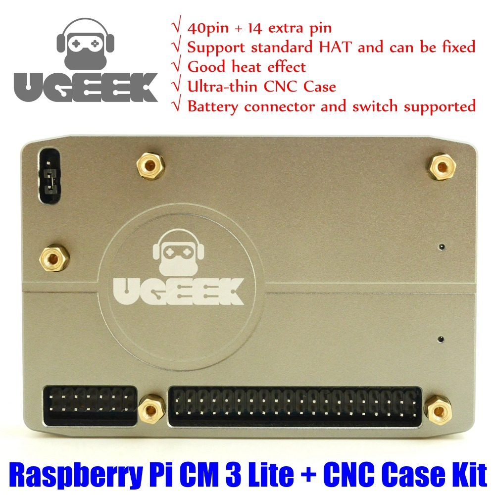 Official Original Raspberry Pi Compute Module 3 Lite + UGEEK I/O Board + CNC Case Kit|CM3|CM3L|BCM2837|support CM3+|CM3 Plus
