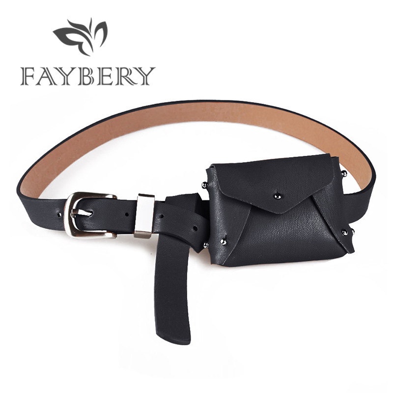 Sexy Korean Style Waist Bag Belts For Women's Belt With A Small Purse Elegant Double Use Wallet Female Strap Girdle Belt Bag