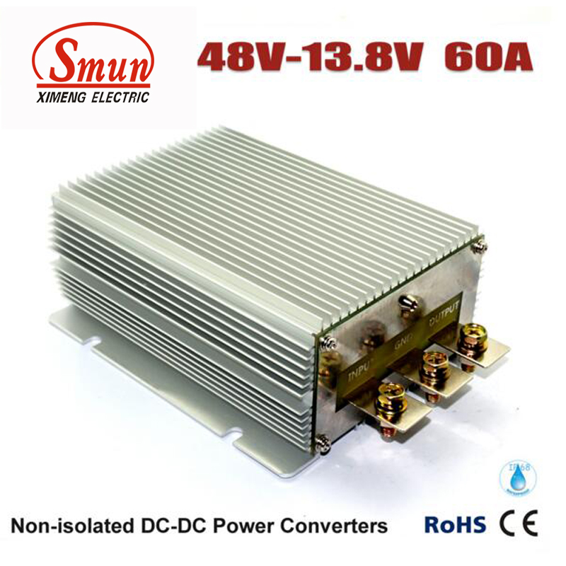48VDC TO 13.8VDC 60A 828W DC DC Buck Converter With IP68 Waterproof48VDC TO 13.8VDC 60A 828W DC DC Buck Converter With IP68 Waterproof