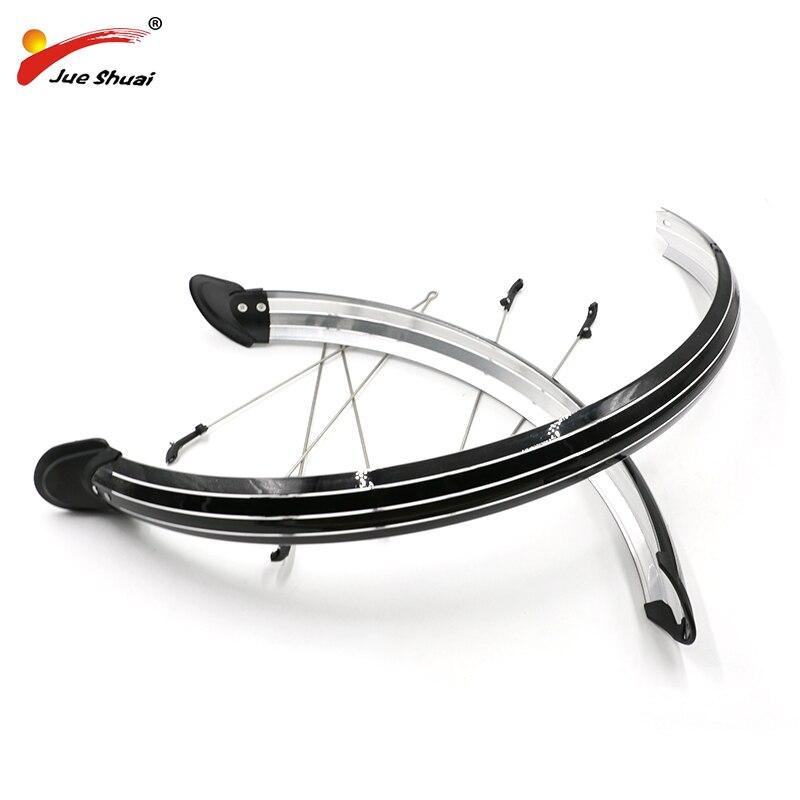 Jueshuai bicicleta longa lama guardas para-choque conjunto com v-estadias pvc flexível completa mudguards 700c 26