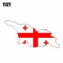 YJZT autocollants créatifs pour voiture, drapeau géorgien, autocollants 14.5x7.3CM, 6 0849
