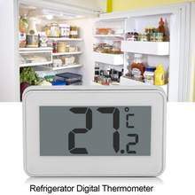 Wireless Electronic LCD Digital Thermometer Indoor Fridge Freezer Refrigerator Temperature Meter with Hanging Hook Termometer(China)