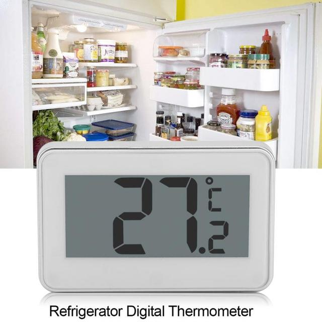 Wireless Electronic LCD Digital Thermometer Indoor Fridge Freezer Refrigerator Temperature Meter with Hanging Hook Termometer