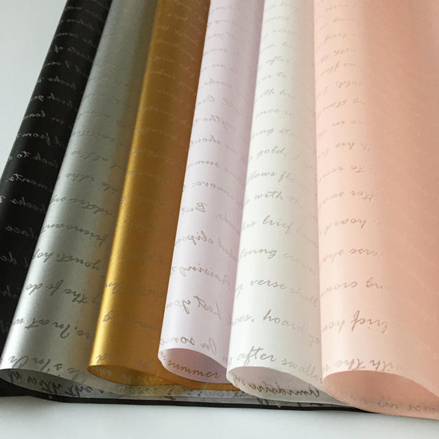 Letter Printed Wrapping Paper Set 20 Pcs
