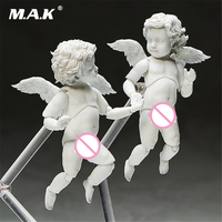 2 Pcs Set Cupid Love Angel Statue With Stand And Movable Joints Action Figure Model Toys
