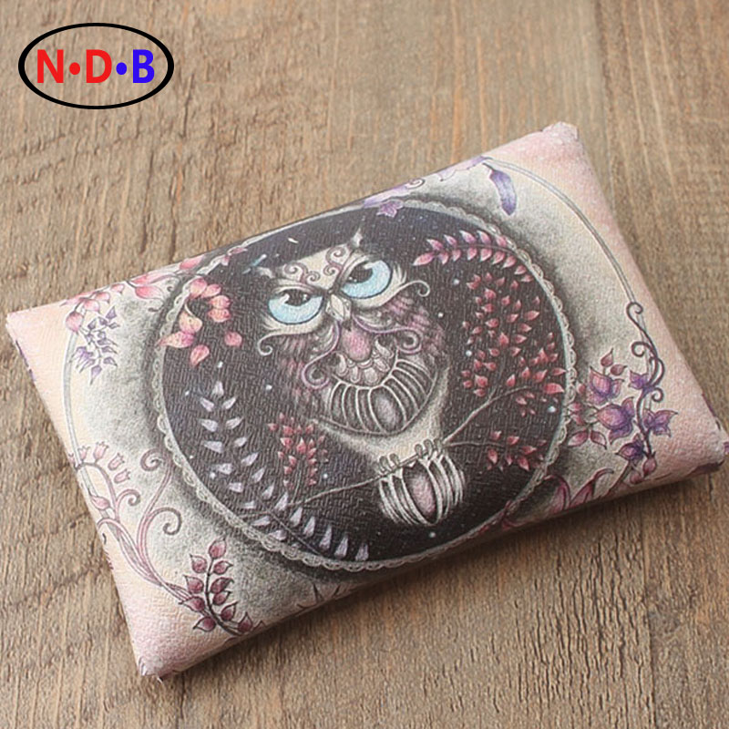 (Coin Purses) section of super fiber quality purse female buckle card bag zero wallet retro pink owl creative Hand Purse LQB1001