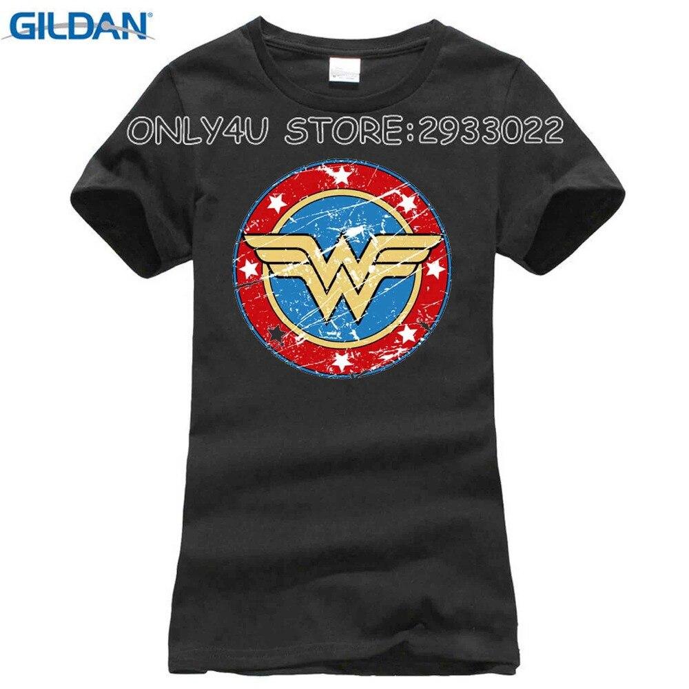 Новый летний Женская Мода Wonder Woman печатных футболки Прохладный Мягкий хлопок короткий рукав топы белого цвета