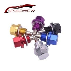 Магнитный моторный маслосток SPEEDWOW M14 * 1,25, магнитный масляный поддон, сливная пробка, болт, гайка для большинства Honda Mitsubishi Mazda