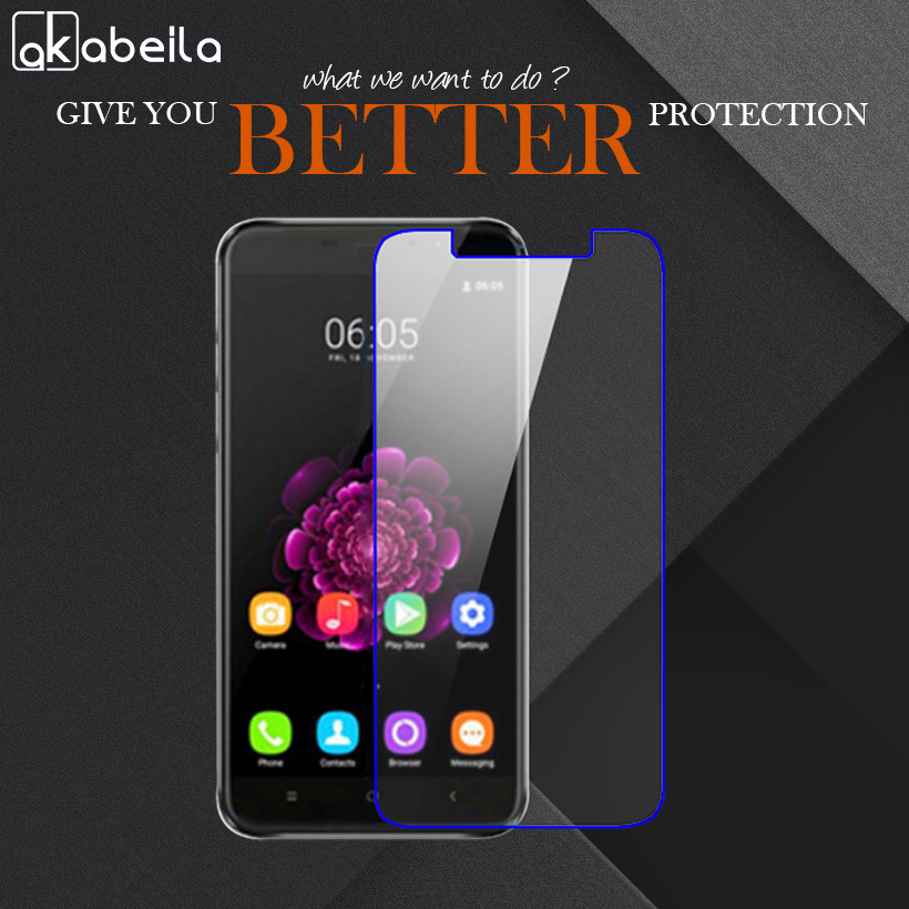 AKABEILA Wholesale Phone Tempered Glass For Oukitel U20 Plus 5.5 inch Tempered Glass Temperli Cam Steel