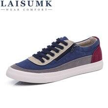 2019 LAISUMK Fashion Sneakers Men Canvas Shoes Low top Men's