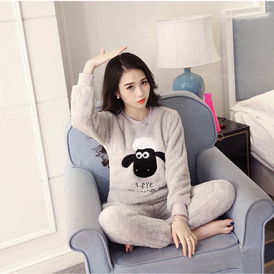 Spring /Autumn Women   Pajama     Sets   Pijama Home Pyjamas Woman Winter Cotton   Set   Feminino Velutum Sleepwear Mujer Women Pijamas