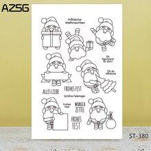 AZSG Happy Christmas Clear stamps/Seals scrapbooking photo album Decorative Card Making/Album Silicone Decoration crafts ze christmas album