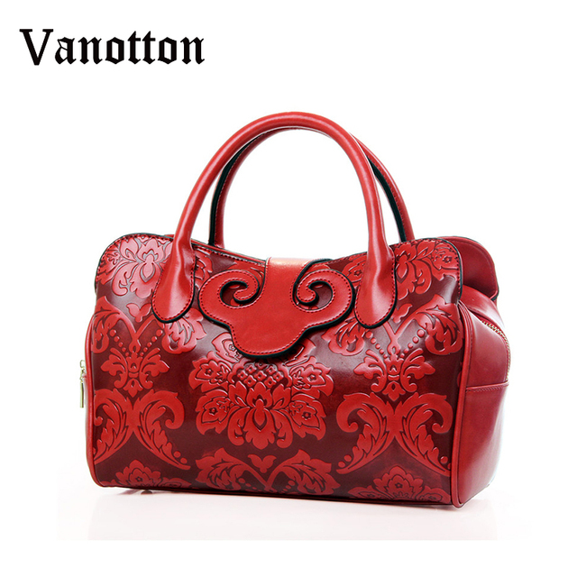 European Style Women Tze Bag 2017 Fashion New Fl Handbags Embossed Bolsas Para Las