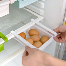 Fridge Storage Rack With Layer Partition Refrigerator Plastic Storage Holder Pull-out Drawer Organizer 15x11.8x2.5cm 1PCS(China)