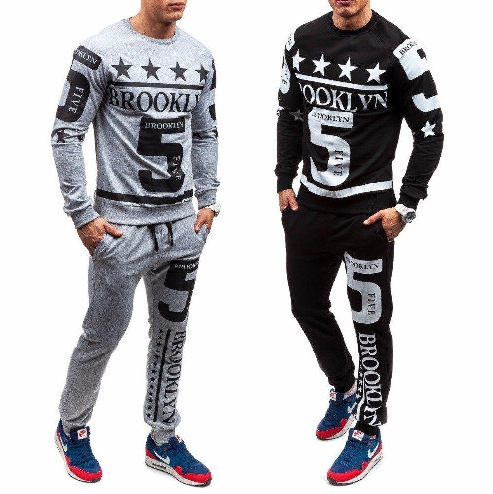 ZOGAA Hot Sale Casual Men Tracksuit Sets O-Neck Sportwear Men Sweatshirt Full Long Sleeves Pants Letter Fashion Men Sets