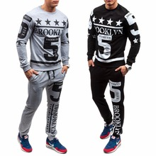 ZOGAA Hot Sale Casual Men Tracksuit Sets O-Neck Sportwear Sweatshirt Full Long Sleeves Pants Letter Fashion