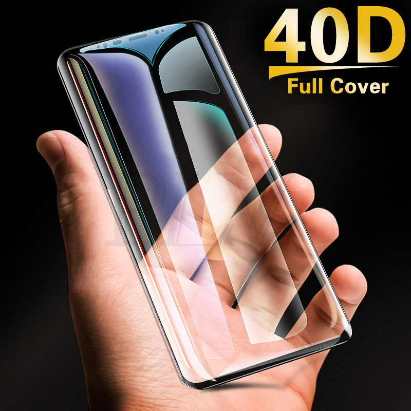 40D Full Curved Tempered Glass For Samsung Galaxy S9 S8 Plus Note 9 8 Screen Protector For Samsung S7 S6 Edge S9 Protective Film(China)