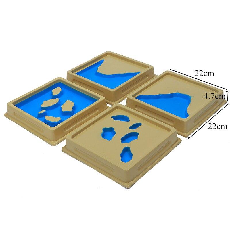 Bébé jouet Montessori géographie moule terre et eau forme plateaux ensemble 1 Set 2 avec cartes éducation précoce enfants Brinquedos Juguetes - 6