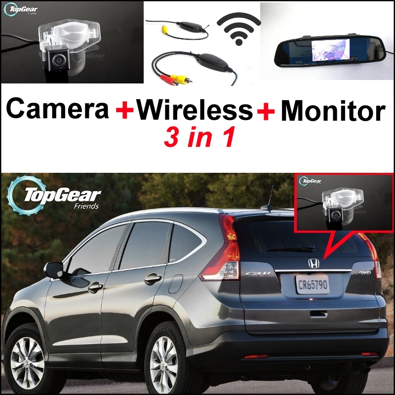 3 in1 Special Rear View Camera + Wireless Receiver + Mirror Monitor DIY Parking System For Honda For CR-V For CRV FRV HRV MRV wltoys a959 rc car off road car 1 18 scale 2 4g 4wd rtr off road buggy high speed racing car remote control truck electric rtr