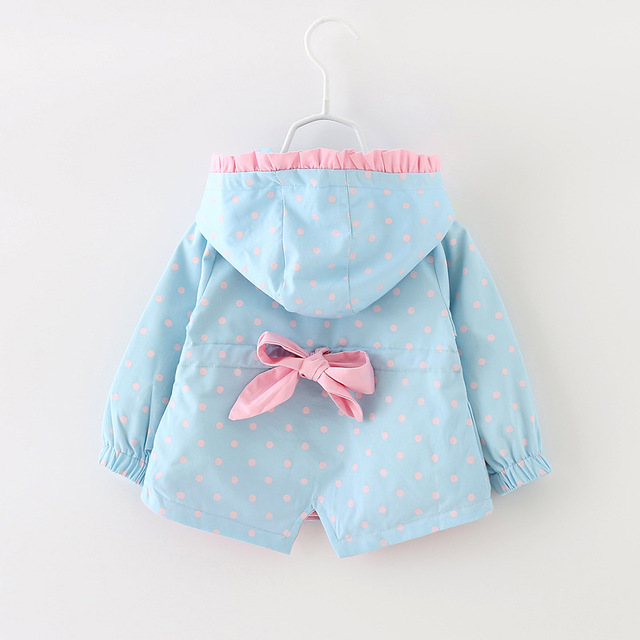 2016 spring&autumn new baby girls outerwear fashion polk dot newborn baby coats cute jacket  suit 7-24M casaco infantil menino
