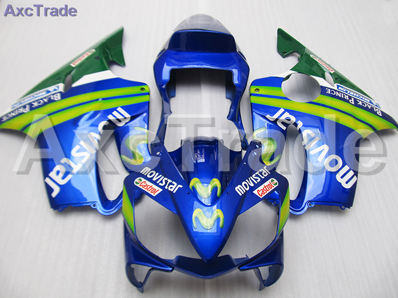 Blue Moto Fairing Kit For Honda CBR600RR CBR600 CBR 600 F4i 2001-2003 01 02 03 Fairings Custom Made Motorcycle Injection Mold gray moto fairing kit for honda cbr600rr cbr600 cbr 600 f4i 2001 2003 01 02 03 fairings custom made motorcycle injection molding
