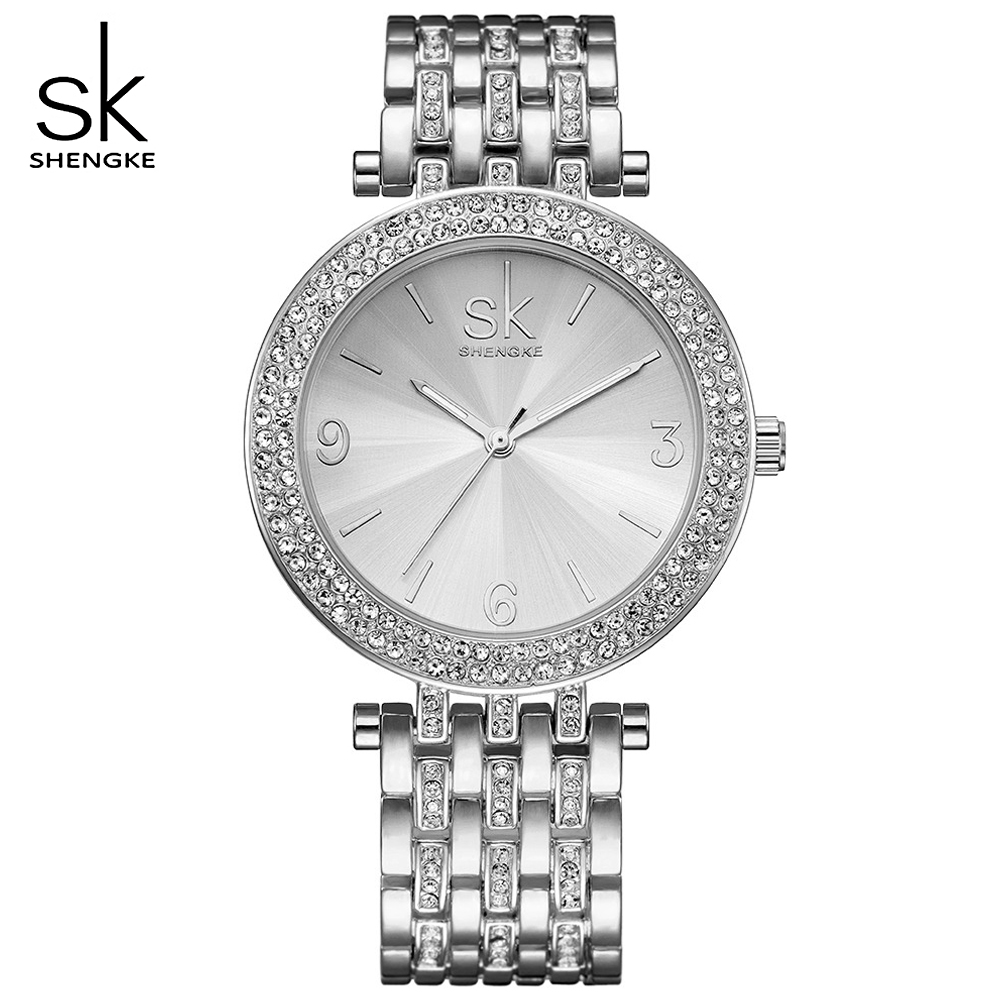 SHENGKE Watch Women Watches Ladies Sliver Fashion Design Bracelet Wristwatches Luxury Brand Female Clock Gift Relogio Feminino hot kimio luxury brand fashion bracelet women wristwatches dress ladies quartz watches relogio feminino gift box female clock