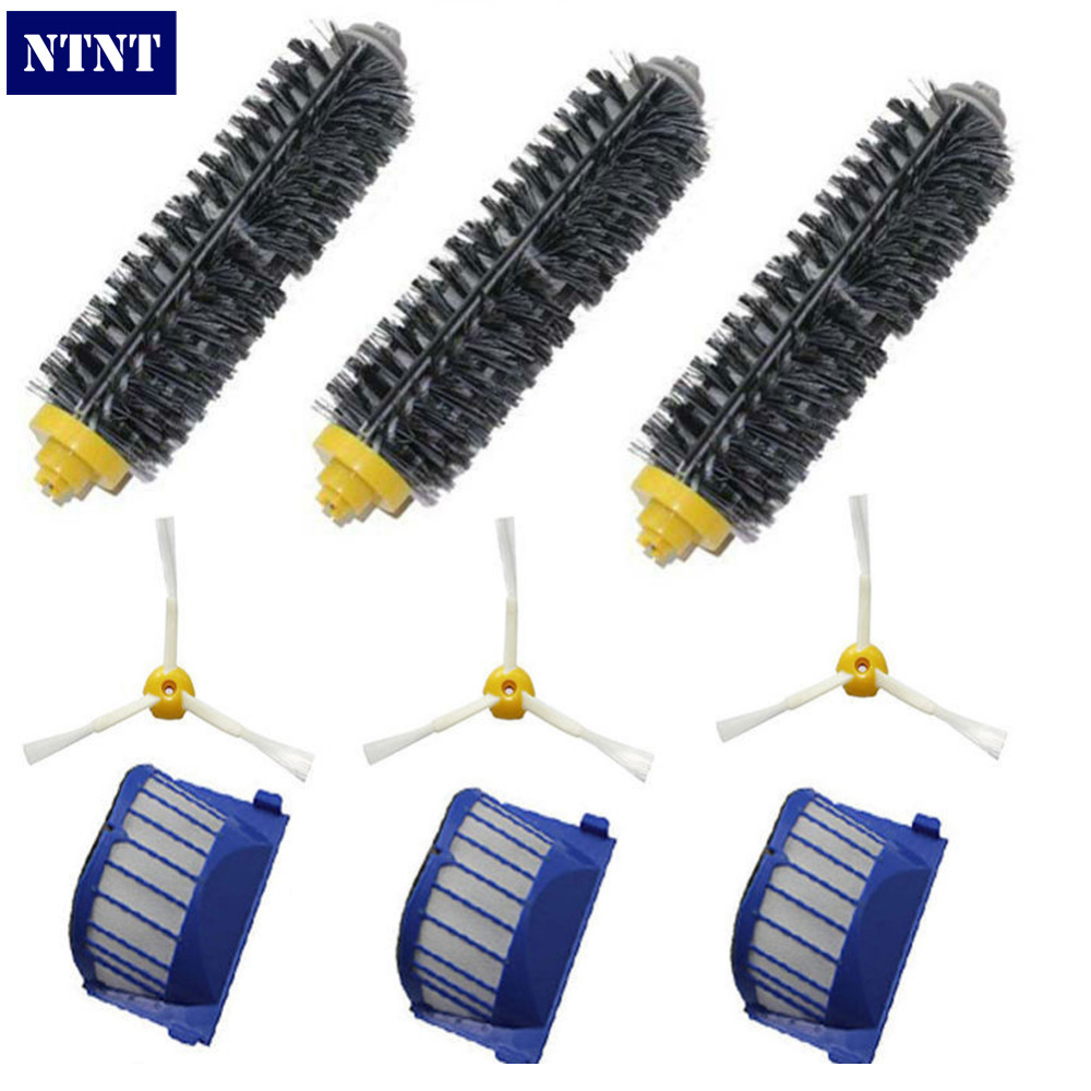 NTNT Free Post New Aero Vac Filters Brush for iRobot Roomba 600 Series Vacuum 3 arm 650 660 630 620 ntnt free post new aero vac filter brush 3 armed side for irobot roomba 600 series 620 630 650 660