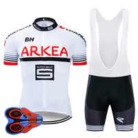 2019 Pro team ARKEA Summer Cycling Jersey 9D Bib Set MTB Uniform Red Bicycle Clothing Quick Dry Bike Wear Ropa ciclismo gel pad
