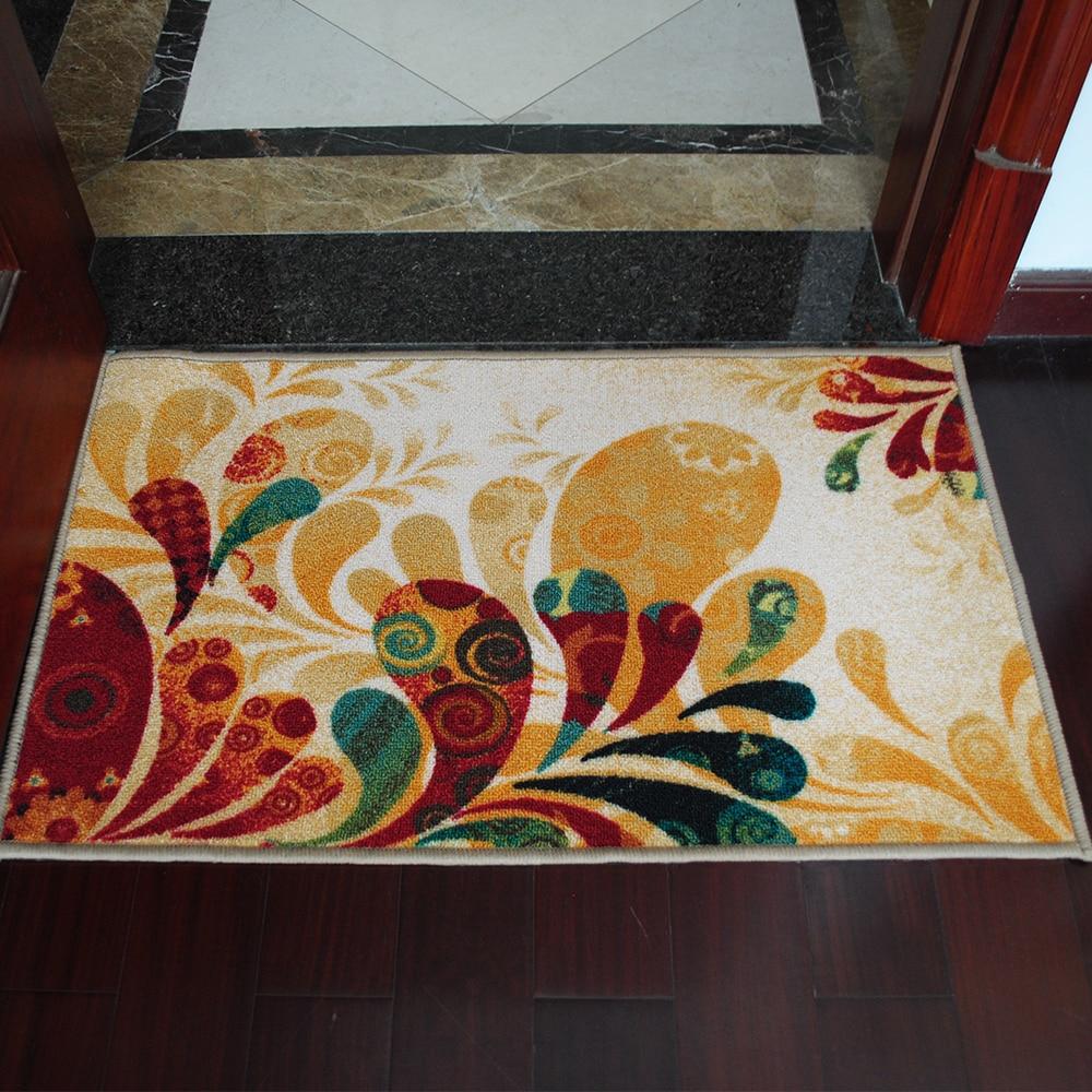 Yazi Country Style Floral Anti Slip Door Mat Kitchen Rug Mat Anti Skid  Floor Carpet Decor Doormat Home Decor 50x80cm Tapete In Carpet From Home U0026  Garden On ...
