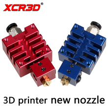 цены на Free Shipping XCR3D High Quality Improved V6 j-hend All metal Hotend Kit Red blue 0.4mm/1.75mm Nozzle for 3D Printer extruder  в интернет-магазинах