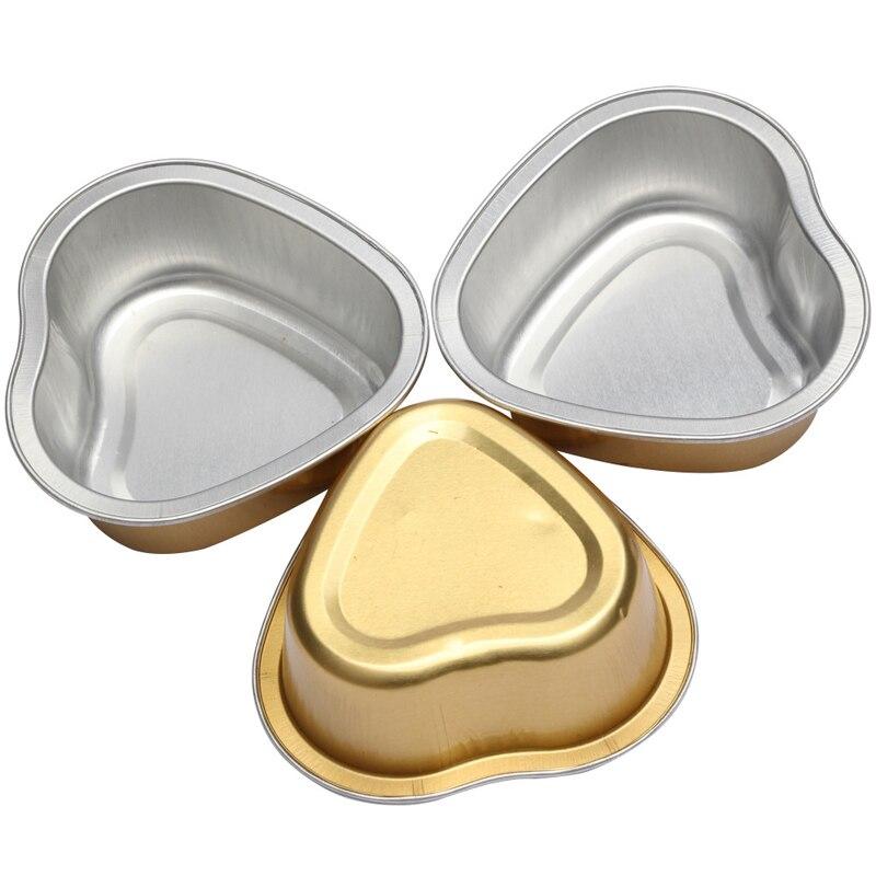 3pcs Heart Melting Wax Beans Bowl Alminum Foil Hair Removal Hot Film Hard Wax Pellet Waxing Bowl Tools Depilatory Waxing 30Gram