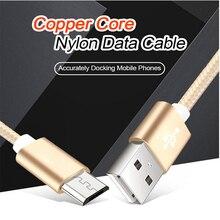 สำหรับ xiaomi micro usb cable ไนลอน 2A fast การชาร์จข้อมูลสาย sync สำหรับ xiao mi 1 s/2 s/3 s /4 s สีแดง mi 1 s/2 s/3 s/3X/4X/หมายเหตุ/2 /3/4/4X