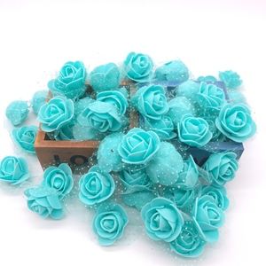 Image 2 - 100Pcs/lot Handmade PE Foam Rose Flowers Wedding Party Home Decor Accessories Artificial Craft Flower Head Wreath Supplies