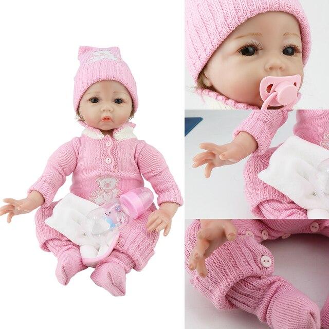 Boneca reborn 55 centímetros suave silicone bonecas para meninas lol lol munecas corpo de silicone bonecas para meninas bebê surpresa bebê